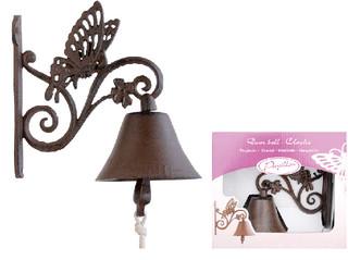 ESSCHERT DESIGN Zvon litinový motýl - dárkové balení