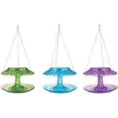 ESSCHERT DESIGN Krmítko skleněné se stříškou, barevné, balení obsahuje 3 kusy!