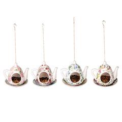 """ESSCHERT DESIGN Krmítko """"BEST FOR BIRDS"""" konvička na zavěšení 16 x 14 x 14cm, balení obsahuje 4 kusy!"""