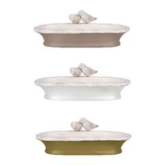 """ESSCHERT DESIGN Koupel pro ptáčky """"ESSCHERT´S GARDEN"""" 1,15 L, keramická, velikost: 37 cm, balení obsahuje 3 kusy!"""