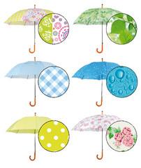 ESSCHERT DESIGN Dětský deštník, jilm, zelená