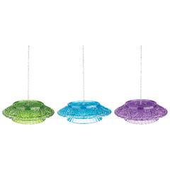 ESSCHERT DESIGN Krmítko skleněné na lojovou kouli, barevné, balení obsahuje 3 kusy!