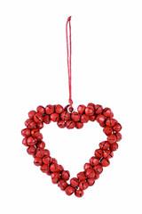 EGO DEKOR Srdíčko z rolniček, červené, 1,5 x 8 x 8,5 cm