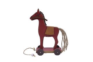 EGO DEKOR Koník červený, 10 x 6 x 17,5 cm