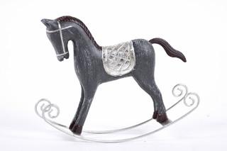 EGO DEKOR Koník houpací, šedá, St
