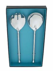 """EGO DEKOR Luxusní, ručně vyráběný salátový set z recyklované oceli """"Dafné"""", velikost balení: 31,5 cm, 2 ks v balení"""