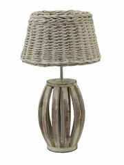 EGO DEKOR Lampa proutěná, 26 x 26 x 50 cm, bílá