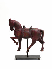 EGO DEKOR Koník na stojánku, červený
