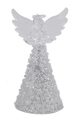 EGO DEKOR Anděl skleněný, stříbrná , 4,5 x 5 x 9 cm