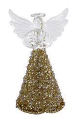 EGO DEKOR Anděl skleněný, zlatý, 4 x 4,5 x 9 cm