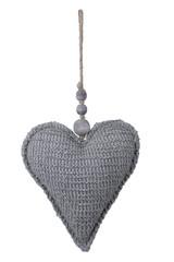 EGO DEKOR Dekorace srdce látkové, 7 x 17,5 x 34 cm