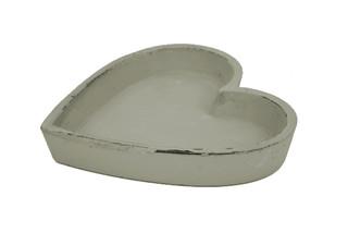 EGO DEKOR Miska srdíčko, šedá, 17,5 x 18 x 3 cm