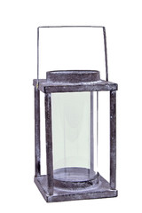 EGO DEKOR Lucerna kovová, šedá, 11 x 11 x 28 cm