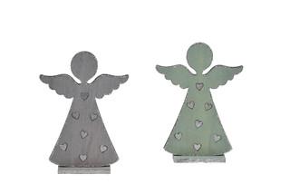 EGO DEKOR Dekorace anděl 19 cm, balení obsahuje 2 kusy!