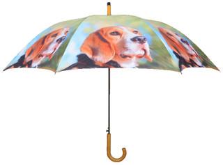 ESSCHERT DESIGN Deštník s pejsky, světle zelený