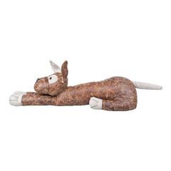 ESSCHERT DESIGN Zarážka dveřní KOČKA a PES,hnědá s patinou, imitace kůže, 62x18x16 cm, balení obsahuje 2 kusy!