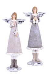 EGO DEKOR Anděl zimní, 4 x 5 x 16,5 cm, balení obsahuje 2 kusy!
