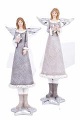 EGO DEKOR Anděl zimní, 9 x 7 x 23,5 cm, balení obsahuje 2 kusy!