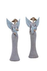 EGO DEKOR Anděl Etela, 5 x 6,5 x 19 cm, balení obsahuje 2 kusy!