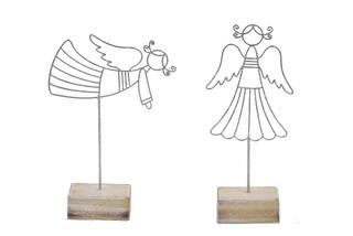 EGO DEKOR Dekorace anděl, stříbrná, balení obsahuje 2 kusy!