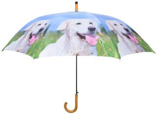 ESSCHERT DESIGN Deštník s pejsky, světle modrý