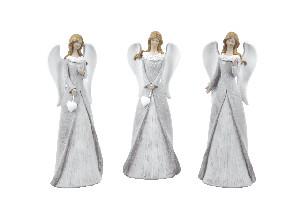 EGO DEKOR Anděl Aida, 5 x 9 x 20 cm, balení obsahuje 3 kusy!