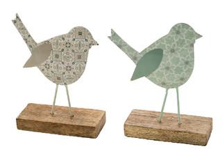 EGO DEKOR Dekorace ''Ptáček'', světle modrá/krémová, M, balení obsahuje 2 kusy!