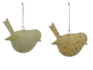 EGO DEKOR Závěs ''Ptáček'', žlutá/zelená, M, balení obsahuje 2 kusy!
