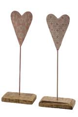 EGO DEKOR Dekorace ''SRDCE'', růžová, balení obsahuje 2 kusy!