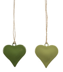 EGO DEKOR Závěs ''srdce'', zelená, M, balení obsahuje 2 kusy!