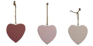 EGO DEKOR Závěs ''Srdce'', bílá/růžová/staro růžová, balení obsahuje 3 kusy!
