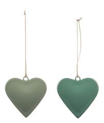 EGO DEKOR Závěs ''Mini srdce'', tyrkysová, V, balení obsahuje 2 kusy!