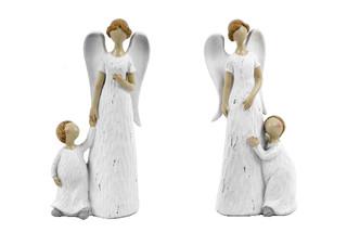 EGO DEKOR Anděl Emílie, bílá, M, balení obsahuje 2 kusy!