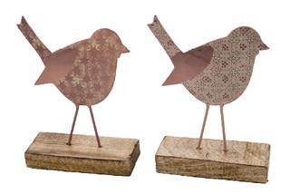 EGO DEKOR Dekorace ''Ptáček'', růžová, M, balení obsahuje 2 kusy!