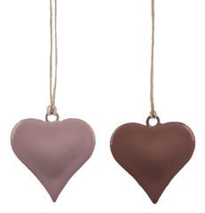 EGO DEKOR Závěs ''Mini srdce'', růžová, M, balení obsahuje 2 kusy!
