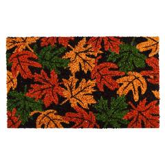 """ESSCHERT DESIGN Rohožka """"BEST FOR BOOTS"""" s podzimním listím, oranžovo-černo-zelená, 60 x 40 cm"""