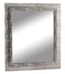 EGO DEKOR Zrcadlo, stříbrná s tepáním, 57x67 cm