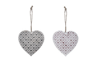 EGO DEKOR Závěs srdce, V, balení obsahuje 2 kusy!