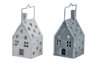 EGO DEKOR Lucerna domek, 8 x 8 x 15,5 cm balení obsahuje 2 kusy!