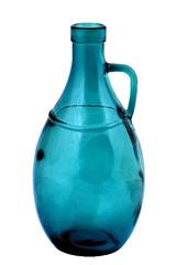 EGO DEKOR ECO Váza z recyklovaného skla s uchem, 26 cm, modrá