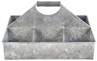 ESSCHERT DESIGN Přepravka hranatá, zinek, 19x33x23 cm