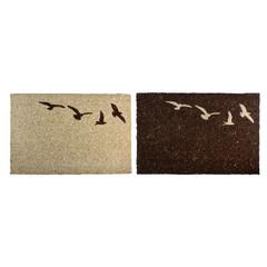 """ESSCHERT DESIGN Rohožka """"BEST FOR BOOTS"""" z kokosového vlákna, letící ptáci, hnědá/přírodní, 60 x 40 cm, balení obsahuje 2 kusy!"""