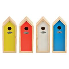 """ESSCHERT DESIGN Budka """"BEST FOR BIRDS"""" se sýkorkou koňadrou, různé barvy, balení obsahuje 4 kusy!"""