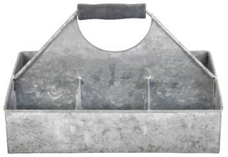 ESSCHERT DESIGN Přepravka hranatá, zinek, 15x27x18 cm