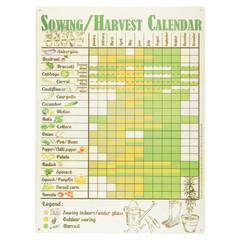 ESSCHERT DESIGN Cedulka Kalendář sklizně