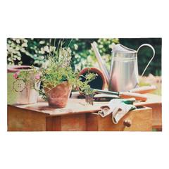 """ESSCHERT DESIGN Podložka pod rohožku """"BEST FOR BOOTS"""" , zahradnický stůl, hnědá, 76 x 45,5 cm"""