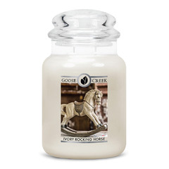 GOOSE CREEK Svíčka 0,68 KG Houpací koník ze slonoviny, aromatická v dóze SP (Ivory Rocking Horse)
