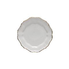 CASAFINA Talíř dezertní, 22cm, IMPRESSIONS, bílá|zlatá