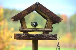"""ESSCHERT DESIGN Budka pro ptáčky """"BEST FOR BIRDS"""" na noze (DOPRODEJ)"""