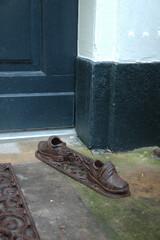"""ESSCHERT DESIGN Škrabák na boty """"BEST FOR BOOTS"""" BOTIČKY, hnědá, litina, 45 cm"""